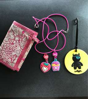 Smiggle wallet, luggage tag & friendship necklace