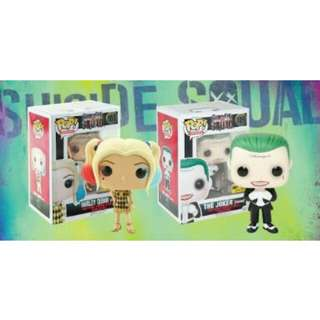 Harley Quinn and The Joker Hot Topic Exclusive Suicide Squad Funko Pop