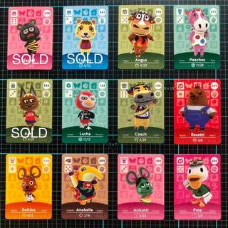 Animal Crossing Amiibo Cards 3DS
