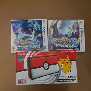 Nintendo 2DS XL Pokemon Edition with 2 games