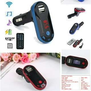Double USB Bluetooth Wireless Mp3 Car Transmitter