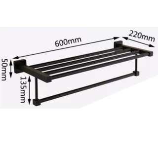 Black Towel Rack Bar