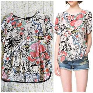 H&M Oriental Floral Top