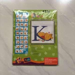 Pooh Bear Alphabet K