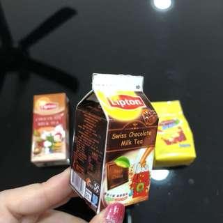 3D Realistic Miniature Magnet - Lipton Swiss Chocolate Milk Tea