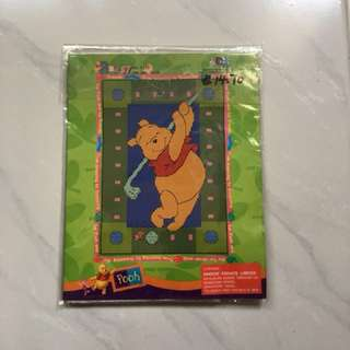 Pooh Bear Golf Cross Stitch Kit