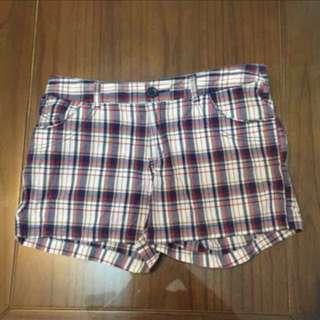 Net格紋短褲