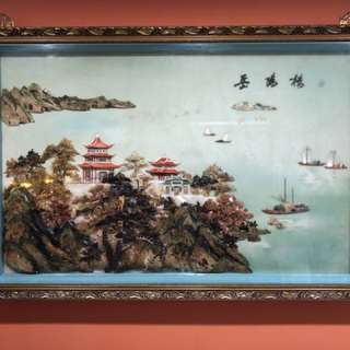 Antique Art / Painting 岳阳楼 (Yue Yang Lou) Seashell Artwork