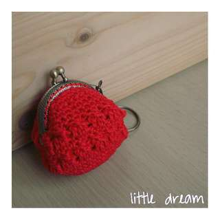 mini coin purse in red