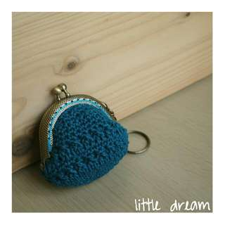 mini coin purse in aqua