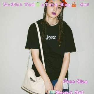 X-Girl Tee👕+Tote Bag👜 Set