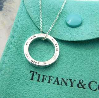 Tiffany Sterling Silver 1873 Circle Necklace