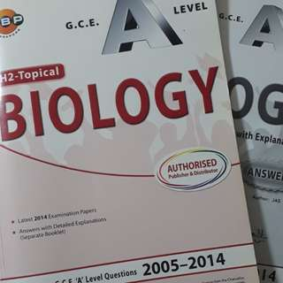 A lvl H2 Maths Bio and Chem Books