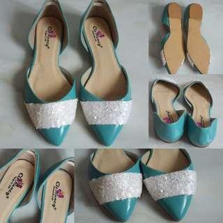 Code : Flatshoes Biru Payet Import