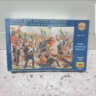 Zveda French Elite Infantry Voltigeurs scale 1/72  no 8042