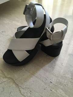 Charles and Keith White Platform Sandals