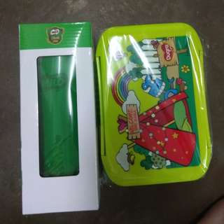 Limited edition MILO flask & lunch box can mircowave