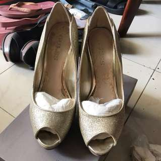 Guess gold heels 12cm ORI