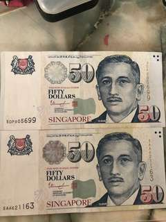 $50 brand new notes