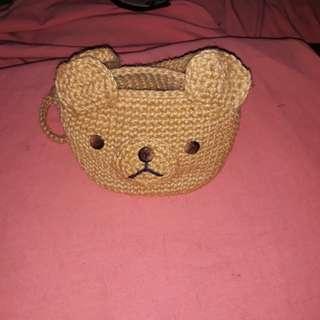 Wooven bag teddy design