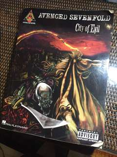 Buku Tabs Tablature Avenged Sevenfold - City of Evil