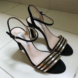 LK Bennett Samantha Silver Heels Size 36