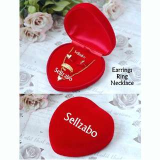 ♥Love Red Necklaces/Ring/Earrings Box Set Holders Accessories Jewellery Gift Presents Birthday Wedding Heart