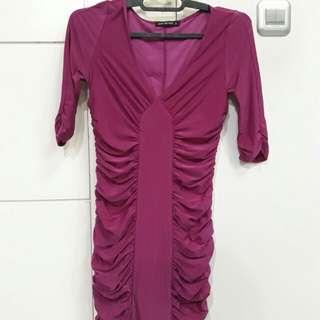 Mini dress pink fuchsia