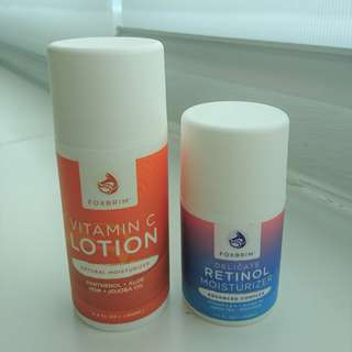 FOX BRIM VITAMIN C LOTION AND RETINOL MOISTURISER