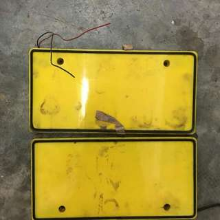 FRAME PLATE WITH LAMP