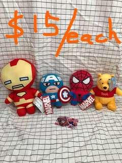 Marvel 鐵甲奇俠 美國隊長 蜘蛛俠 維尼熊