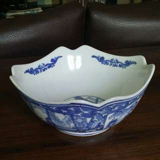 Unique Shape b&w Porcelain Bowl