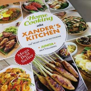 "Buku masak ""Home Cooking ala Xander's Kitchen"