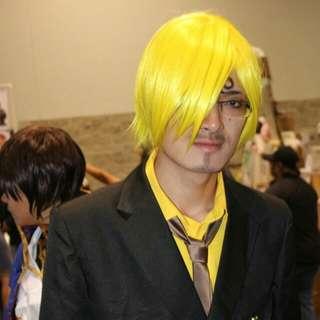 One Piece Sanji Yellow Wig