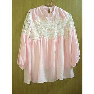 🚚 粉色氣質上衣