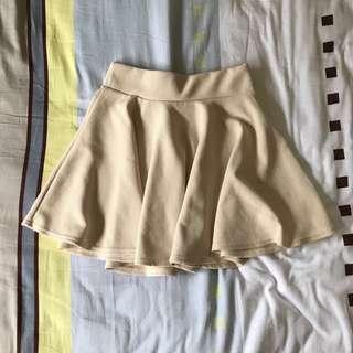 Cream skater skirt