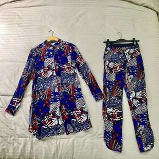 H&M tunic top with matching pants