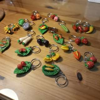 Keychain Collectables Handmade Fruit Food