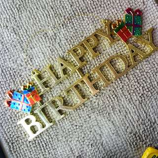 HAPPY BIRTHDAY LETTERS BANNER