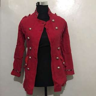Sale!!! Red Military Jacket