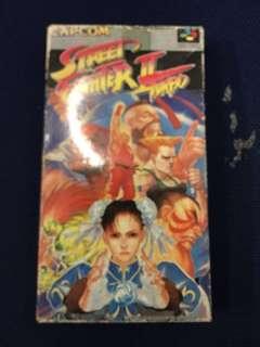 全新CAPCOM Street fighter II turbo 遊戲帶一盒,齊說明書,太子地鉄站交收