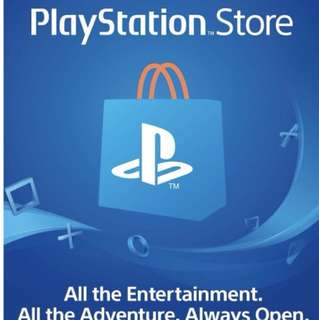 [全數碼代碼自動出貨] 美服PSN PlayStation Network 點數卡US$50