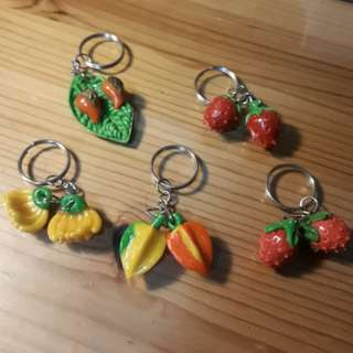 Keychain Handmade Fruit Food