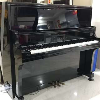 Black KAWAI Upright Grand Piano (KU-5)