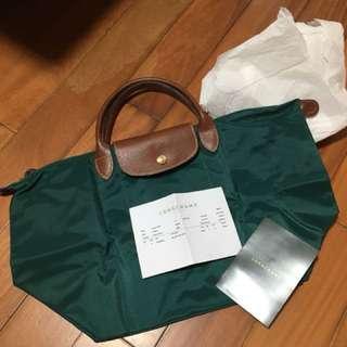 Longchamp LE PLIAGE NYLON 墨綠色 全新未用