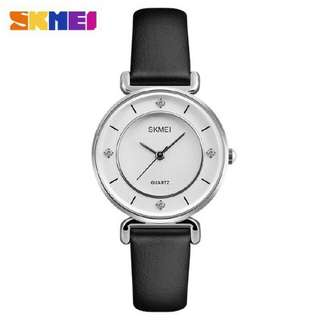 Jam Tangan Wanita Casual Original SKMEI 1330 Kulit Anti Air