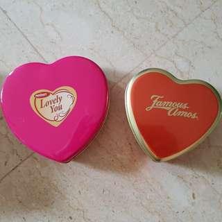 Heart-Shape Tin Box - 2 for $7