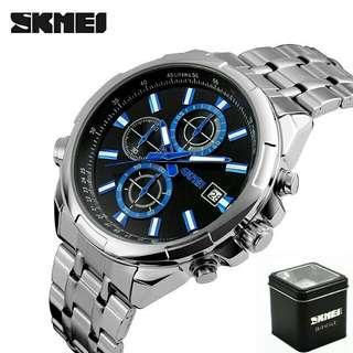 Jam tangan pria skmei 9107 original