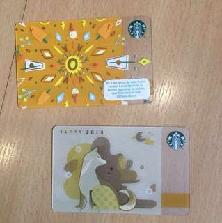 Starbucks cards special from abroad