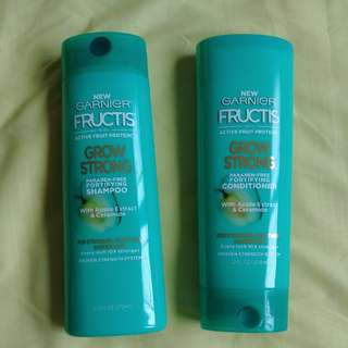 Selling Garnier Fructis Grow Strong Paraben Free Shampoo & Conditioner $12 each/$20 for both